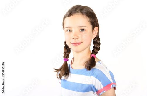 Fotografia, Obraz  Siebenjähriges Mädchen im Porträt