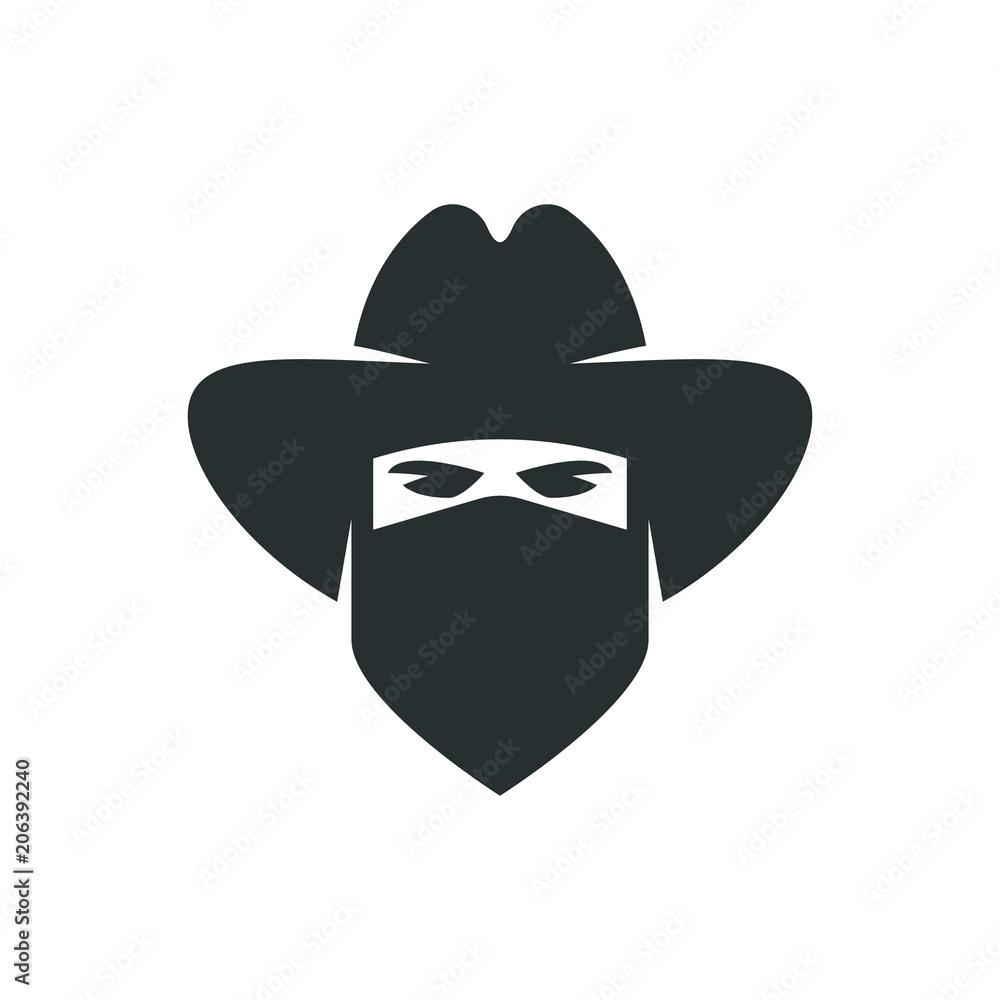 Fototapeta Cowboy. Bandit icon