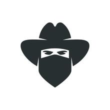 Cowboy. Bandit Icon