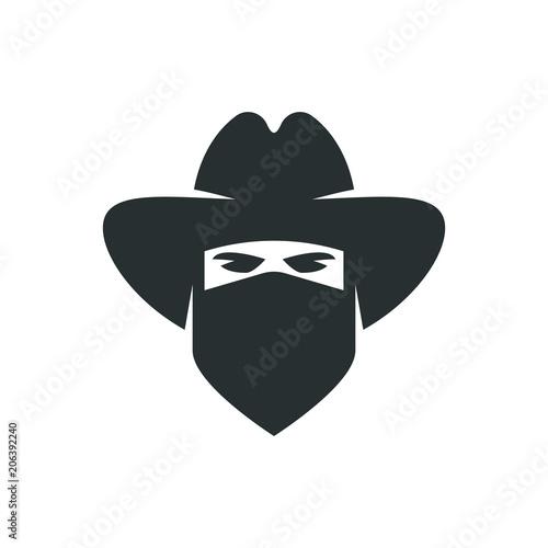 Photo Cowboy. Bandit icon