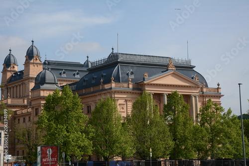 Fotobehang Theater Das Mecklenburgische Staatstheater in Schwerin