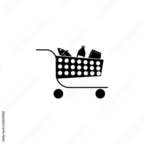 products in the basket icon  Element of market icon for
