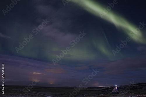 Fotografia, Obraz  Northern Lights in Icelandic nocturnal landscape