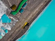 Aerial Viev Of Brown Coal Mine, Konin, Poland