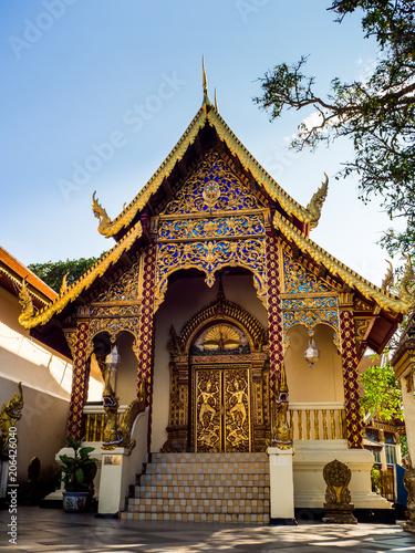 Deurstickers Bedehuis Wat Phrathat Doi Suthep Temple in Chiang Mai, Thailand.