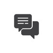 Speech bubble vector icon. filled flat sign for mobile concept and web design. Comment simple solid icon. Chat symbol, logo illustration. Pixel perfect vector graphics