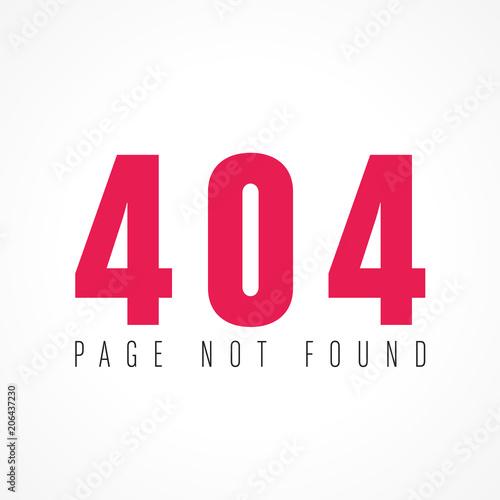 erreur 404, page not found Fotobehang