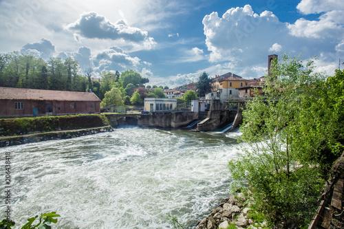 Fényképezés  Melegnano in provincia di Milano, Lombardia - Italia - durante una giornata di s