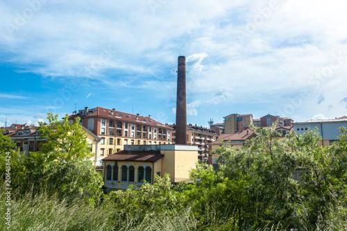 Vászonkép  Melegnano in provincia di Milano, Lombardia - Italia - durante una giornata di s