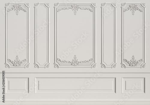 Fotografía  Classic interior wall with mouldings