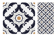 Vintage Tiles Patterns Antique...