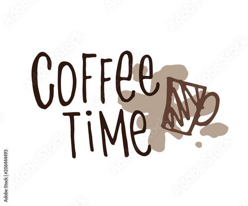 coffee-time-recznie-pisany-napis-z-flizanka-kawy