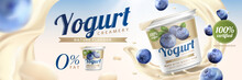 Blueberry Yogurt Ads