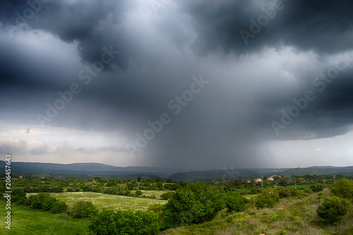 Skyfall, Storm clouds with rain Canvas Print
