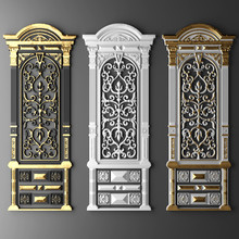 3d Illustration Stucco Frame G...