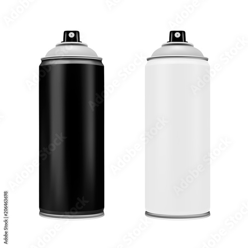 Photo  Spray paint on a white background.Vector illustration.