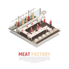 Meat Factory Isometric Composi...