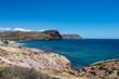 The coast in the blacks of almeria