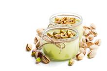 Natural  Pistachio Yogurt In A...