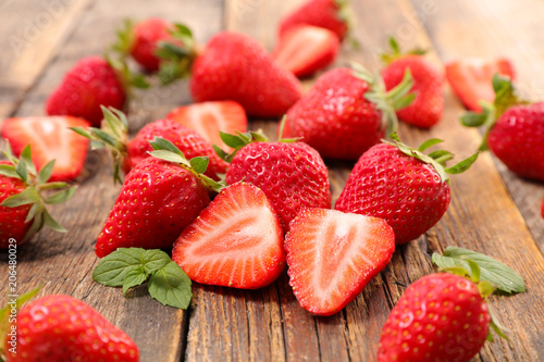 Fototapeta heap of strawberry obraz
