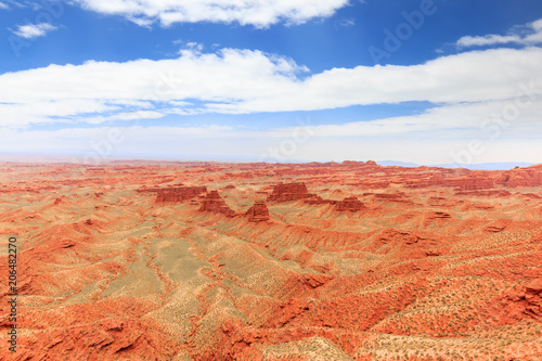 Deurstickers Koraal landscape of red sandstone
