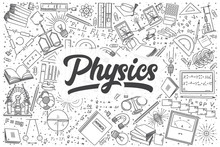 Hand Drawn Physics Vector Dood...