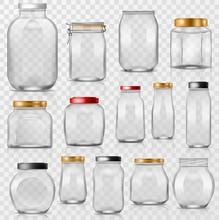 Glass Jar Vector Empty Mason G...