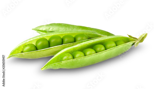 Green peas in closeup Fototapete