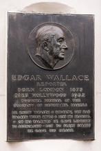 Edgar Wallace Memorial Plaque In Fleet Street.