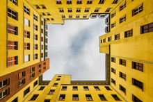 Inner Courtyard Of Berlin Appartment Building