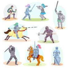 Knight Vector Medieval Knighth...