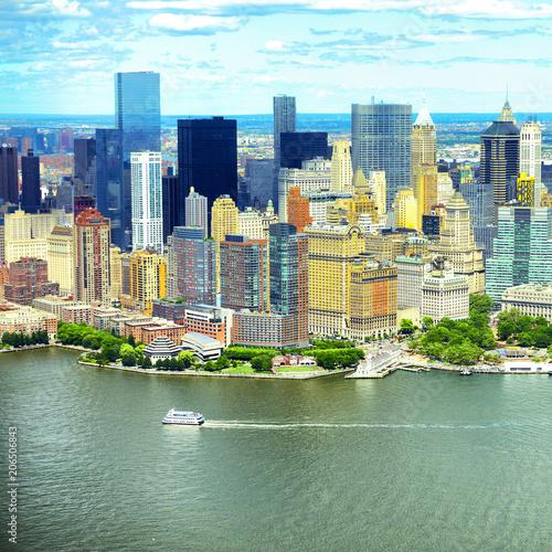 Foto op Plexiglas New York City Manhattan skyline aerial view, USA