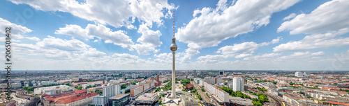 Aluminium Prints Central Europe Berlin Skyline Panorama mit Fernsehturm