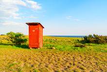 Lovely Little Red Outhouse On ...