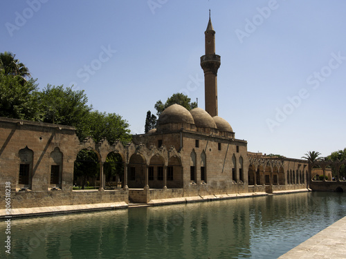 Halil-ur Rahman Mosque and Holy lake Sanliurfa, Turkey Poster