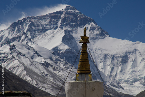 Tuinposter Nepal Mt. Everest from Rongbuk Monastery B