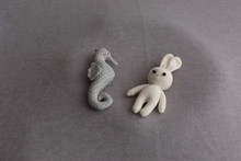 A Knitted Toy. Toy Rabbit And ...