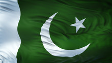 PAKISTAN Realistic Waving Flag Background
