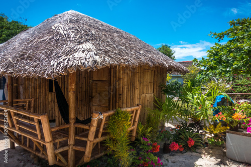 Fotografie, Obraz  Bamboo Beach Hut With Hammock