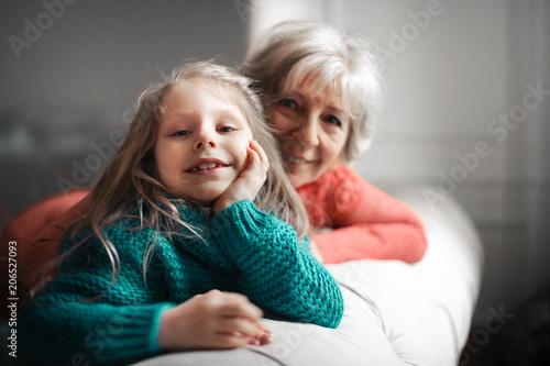 Fototapeta Happy moments with grandma