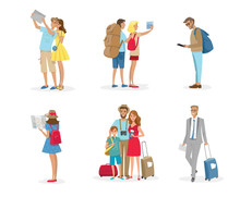 People And Family Travelling O...