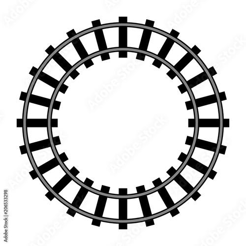 Papiers peints Attraction parc Railway, railroad silhouettes vector illustrations on white background