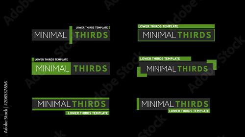 Six Minimal Lower Thirds Kaufen Sie Diese Vorlage Und Finden Ahnliche Vorlagen Auf Adobe Stock