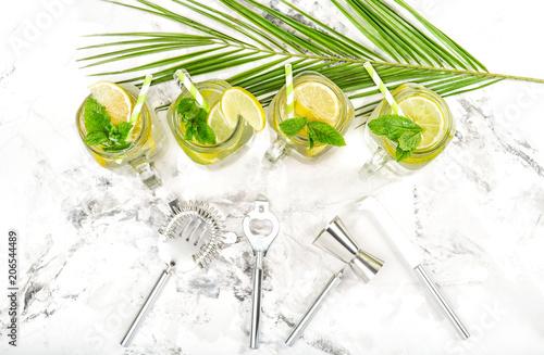 Fotografie, Obraz  Cocktail drink mint ice Cold summer lemonade ice tea