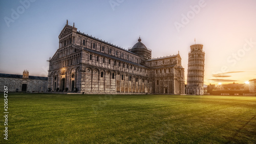 Stampa su Tela Leaning Tower of Pisa in Pisa - Italy