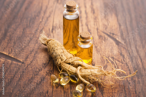 Photo  Extract of ginseng root