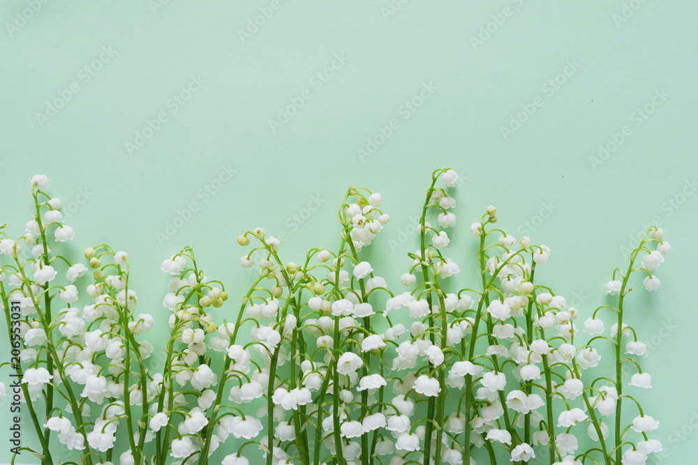Poster Foto Romantic Gentle Flower Background Lily Of The Valley