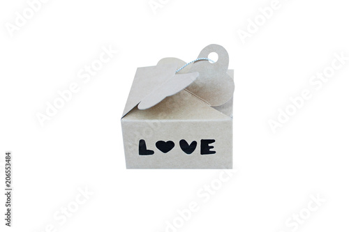 Foto  Gift box with alphabet ,love
