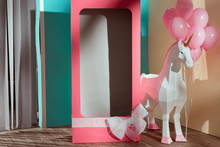 Empty Pink Decorative Box With...