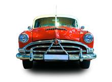 Oldtimer Car. White Background.